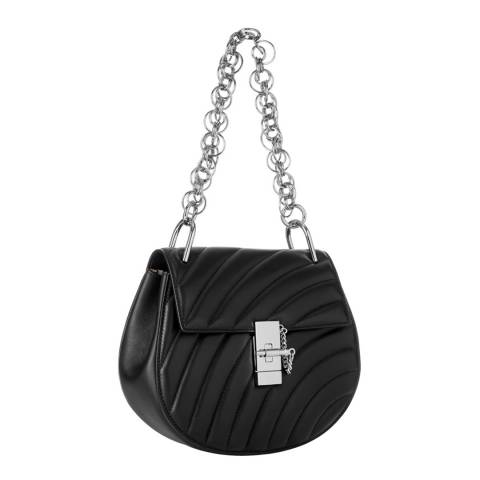 Chloe Black Chloe Drew Quilted Small Silver Chain Shoulder Bag