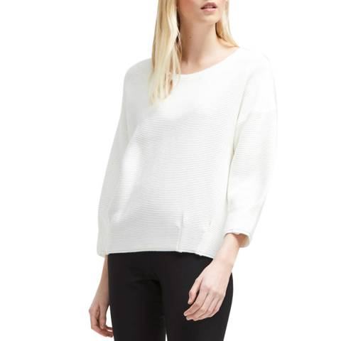 French Connection Winter White Ottoman Mozart Pleat Jumper