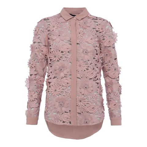 French Connection Cinder Rose Manzoni Lace Shirt