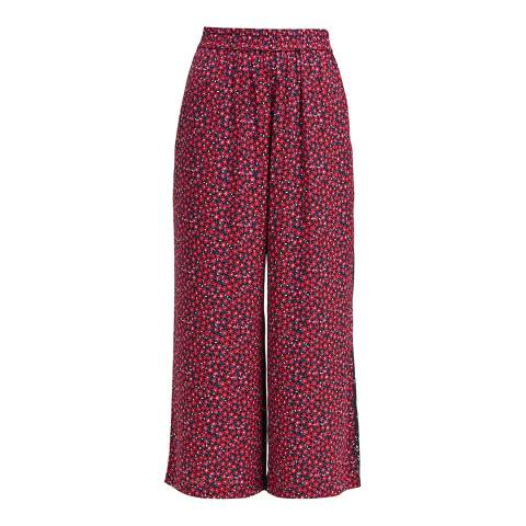 French Connection Mimosa/Black Aubine Fluid Culottes