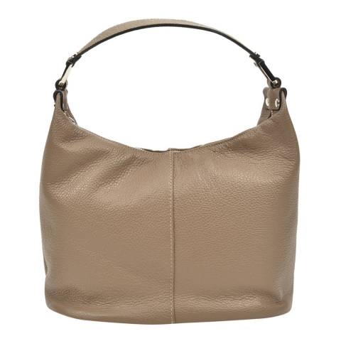 Carla Ferreri Beige Leather Shoulder Bag