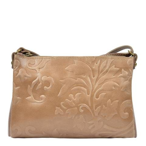 Carla Ferreri Beige Leather Cross-Body Bag