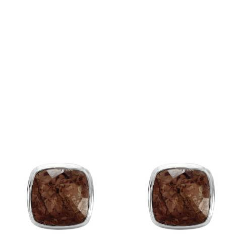 Stephen Oliver Men's Sterling Silver Cushion Shape Cufflinks