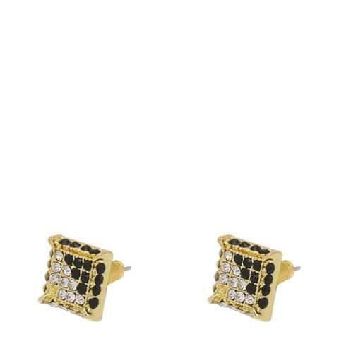 Stephen Oliver Men's Gold Plated Square Post Earrings
