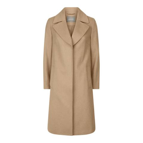 Jaeger Camel A Line Wool Blend Coat