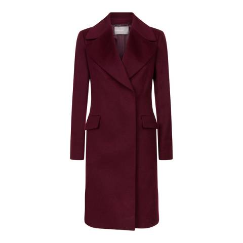 Jaeger Plum A-Line Wool Blend Coat