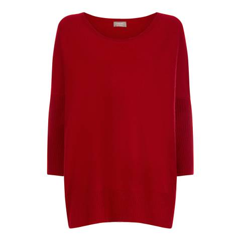 Jaeger Red Oversized Swing Jumper