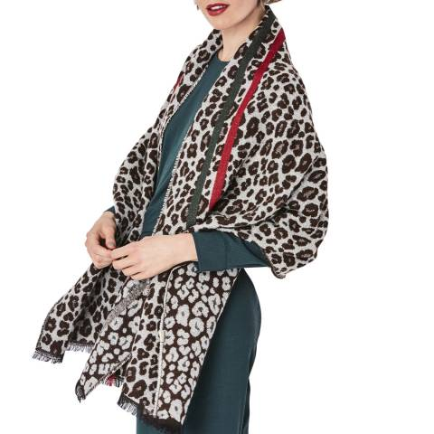 JayLey Collection Cashmere Blend Light Leopard Print Wrap