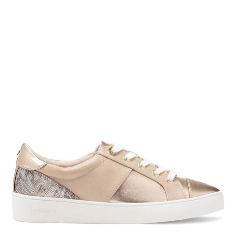 Carvela Nude Jagger Metallic Low Top Trainers