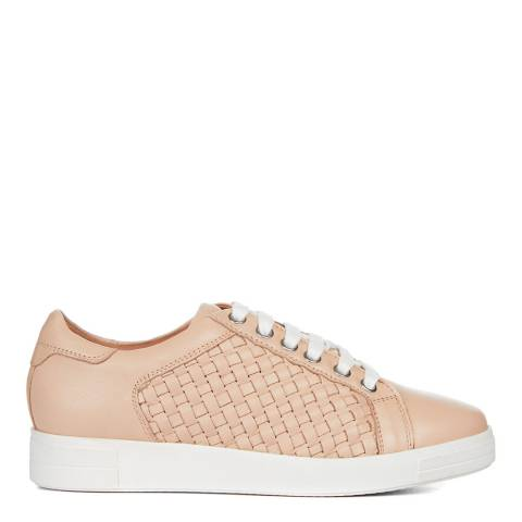 Carvela Nude Leather Judge Low Top Trainers