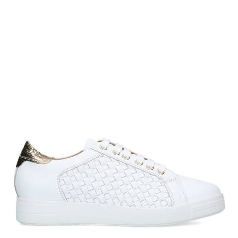 Carvela White Leather Judge Low Top Trainers