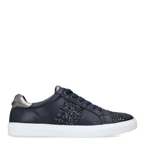 Carvela Navy Jumping Embellished Low Top Trainers