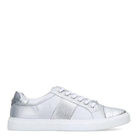 Carvela Silver Jumping Croc Low Top Trainers