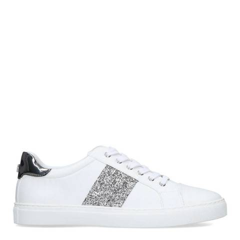Carvela White Jumping Embellished Low Top Trainers