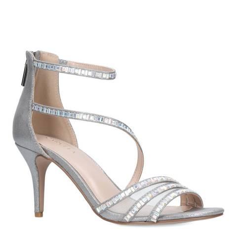 Carvela Silver Liquor Embellished Strappy Heel Sandals