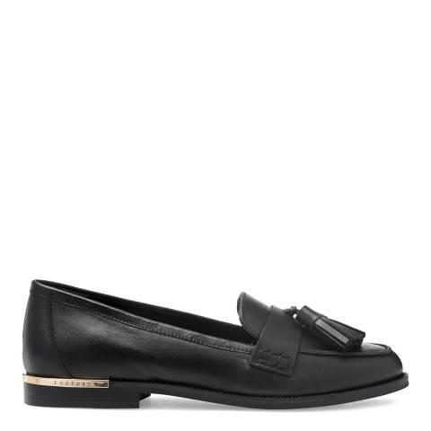 Carvela Black Leather Mercury Tassel Loafers