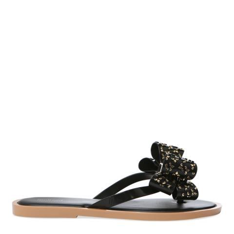Melissa Black Luxe Bow Flip Flop