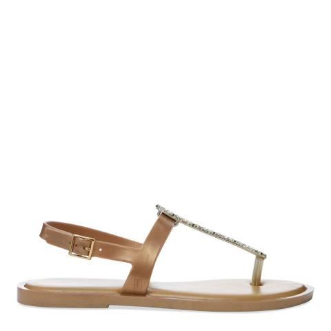 Melissa Gold Slim Star Sandal