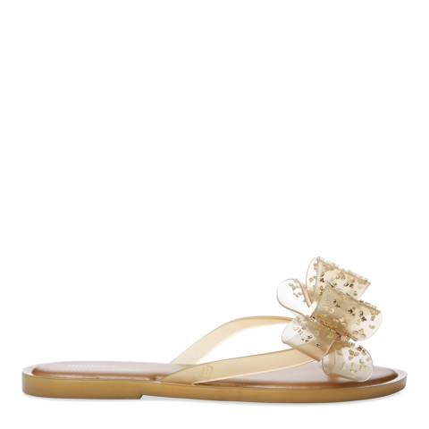 Melissa Gold Luxe Bow Flip Flop