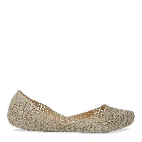 Melissa + Campana Soft Gold Campana Papel Glitter Shoe
