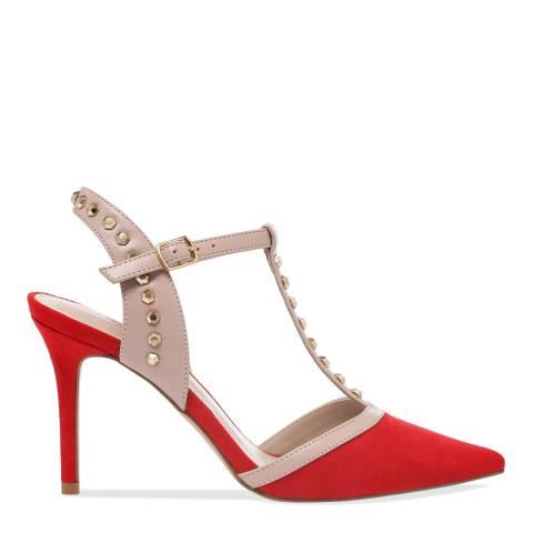 Carvela Red Suedette Kankan Studded Court Shoes
