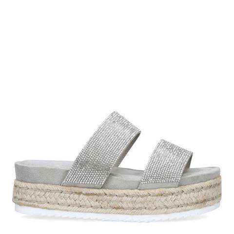 Carvela Silver Embellished Belize Flatform Sandals