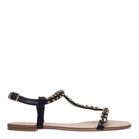Carvela Black T-Bar Blaze Flat Sandals