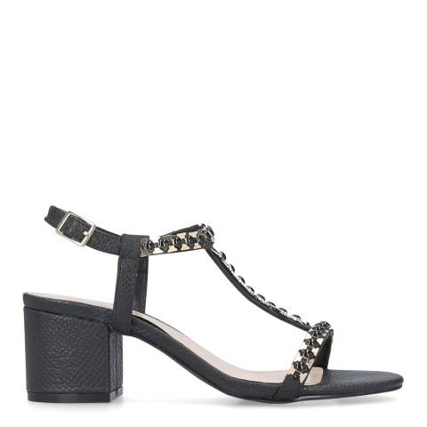 Carvela Black Embellished Blazen Mid Heel Sandals