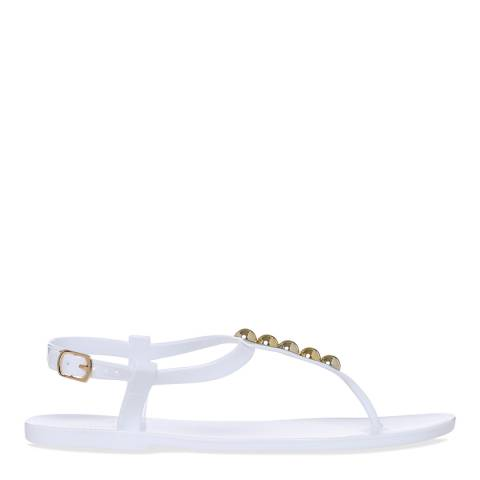 Carvela White Embellished Bora Sandals