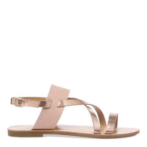 Carvela Pink & Gold Brink Metallic Strappy Sandals