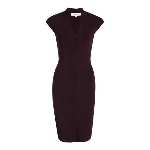 Reiss Deep Mulberry Jasmine Dress