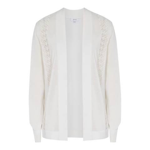 Reiss White Natasha Cardigan