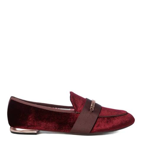 Ted Baker Burgundy Velvet Elienav Penny Saddle Loafers