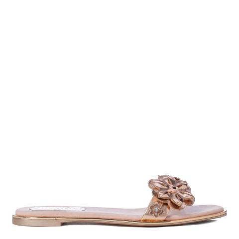 Ted Baker Rose Gold Leather Keelia Mule Sandals