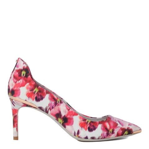 Ted Baker Pink Vyixin Expressive Pansy Court Shoes