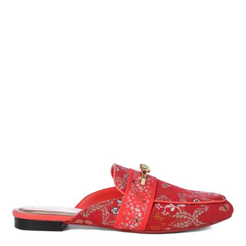 Ted Baker Red Dorlinj Kyoto Mule Loafers