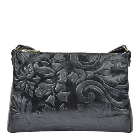 Carla Ferreri Black Crossbody Bag