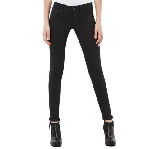 G-Star Black Midge Zip Stretch Skinny Jeans