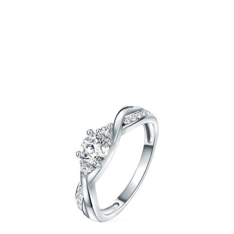 Carat 1934 Silver Crystal Ring