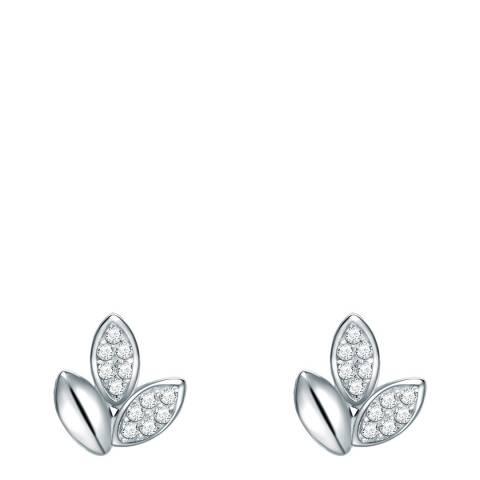 Carat 1934 Silver Crystal Petal Earrings