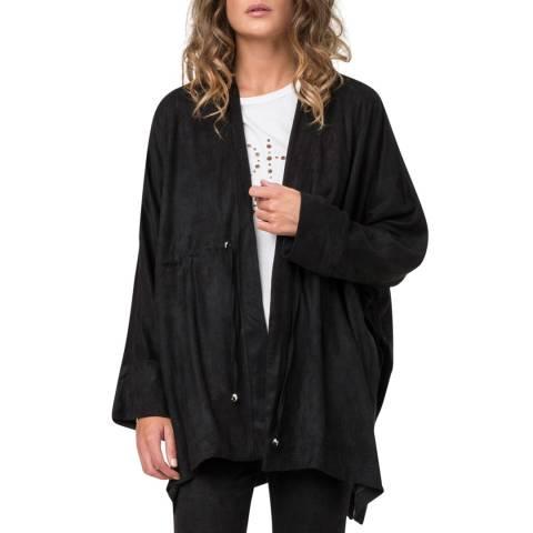 Religion Black Aura Poncho Jacket