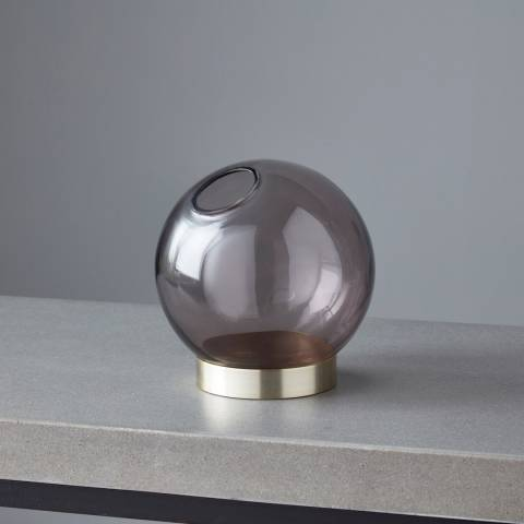 Native Home & Lifestyle Gold/Black Globe Glass Plant Holder 12x12cm