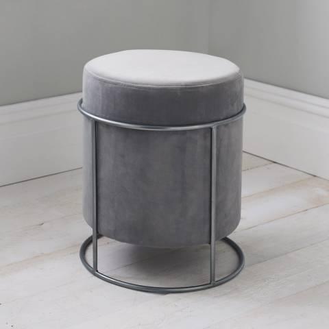 Native Home & Lifestyle Light Grey Stack Stool 37x45cm