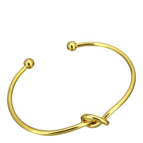 Chloe Collection by Liv Oliver Gold knotted Bangle