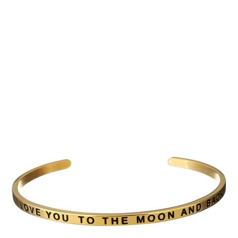 Chloe Collection by Liv Oliver Gold Love you to the Moon Bangle