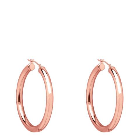 Chloe Collection by Liv Oliver Rose Gold Hoop Earrings