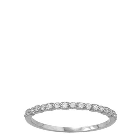 Chloe Collection by Liv Oliver Sterling Silver Embellished Half Eternity Ring