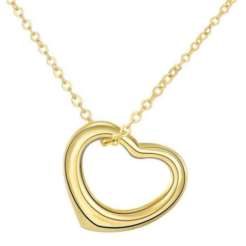 Chloe Collection by Liv Oliver Gold Open Heart Love Necklace