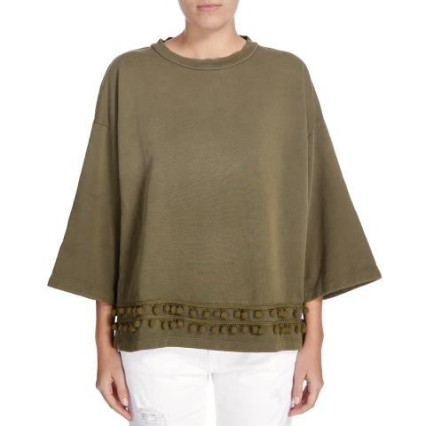 Current Elliott The Pompom Sweatshirt - Dark Olive