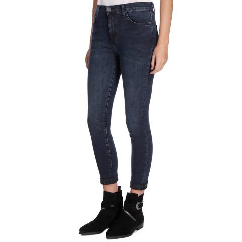 Current Elliott Deep Indigo Super High Waist Stiletto Stretch Jeans